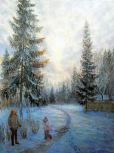 Малюсова Зимний отдых в Бекасово хм80х60-2016