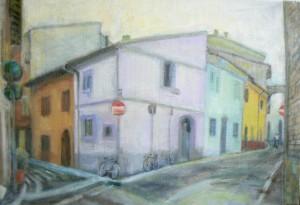 Цветные улочки Римини 2016 45х65хм
